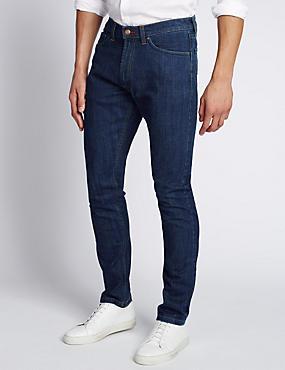 Slim Fit StayNEW™ Stretch Jeans, MEDIUM BLUE, catlanding