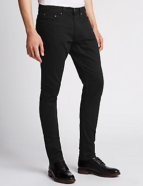 Slim Fit StayNEW™ Stretch Jeans, BLACK, catlanding