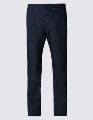 Брюки чинос с пятью карманами и технологиями Cool Comfort™ и Climate Control™ от Marks & Spencer