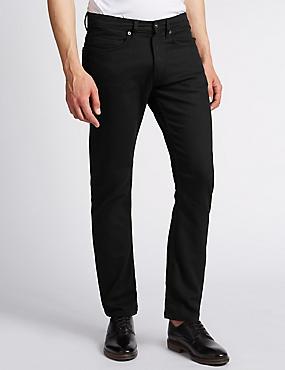 Big & Tall Slim Fit Stretch Jeans, BLACK, catlanding