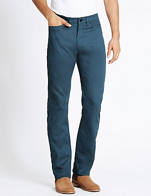 Climate Control Jean Style Trousers, BLUE, catlanding