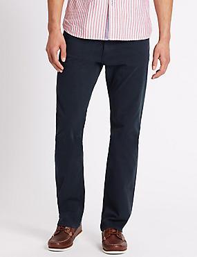 Pantalon droit en coton, BLEU MARINE, catlanding