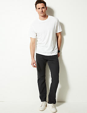 Straight Fit Stretch Jeans, GREY, catlanding