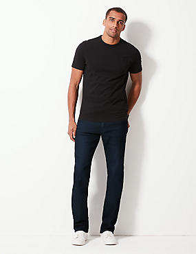 Straight Fit Stretch Jeans, INDIGO, catlanding