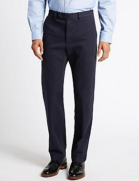Cotton Rich Tailored Fit Chinos, NAVY, catlanding