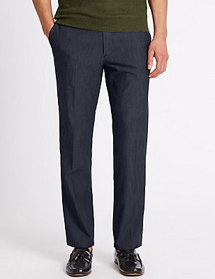 Tailored Fit Cotton Rich Chinos, NAVY, catlanding