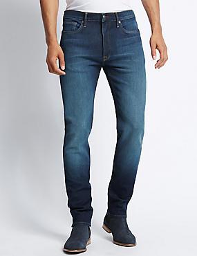 Jean extensible coupe fuselée, INDIGO, catlanding