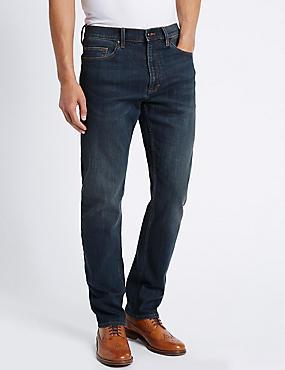 Schmal zulaufende Stretch-Jeans, TÖNUNG, catlanding