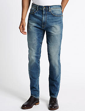 Tapered Fit Jeans, TINT, catlanding