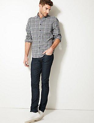 Jean extensible coupe skinny, INDIGO, catlanding