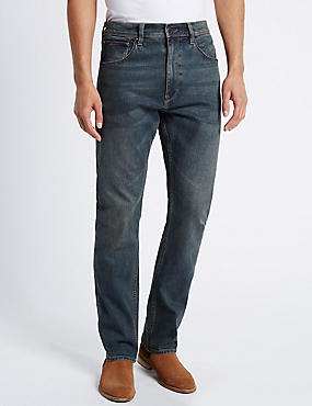 Regular Fit Stretch Jeans, TINT, catlanding