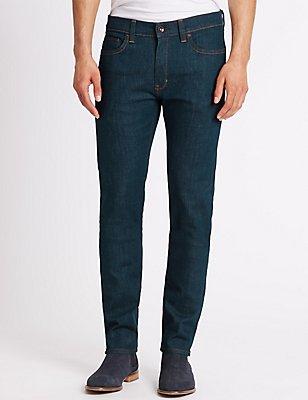 Skinny Fit Stretch Jeans, BLUE, catlanding