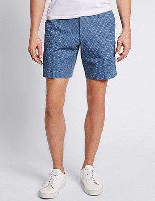Pure Cotton Tailored Fit Chino Shorts, INDIGO, catlanding