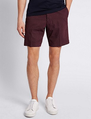 Pure Cotton Tailored Fit Chino Shorts, BURGUNDY, catlanding