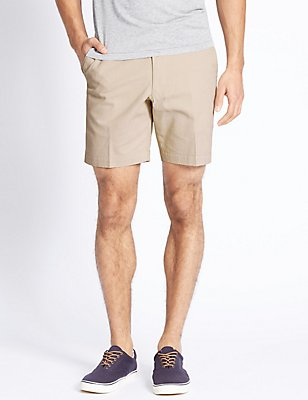 Tailored Fit Pure Cotton Shorts, NATURAL MIX, catlanding