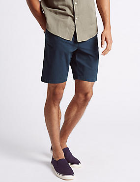 Cotton Rich Shorts, BLUE, catlanding
