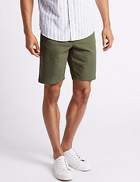 Cotton Rich Shorts, KHAKI, catlanding
