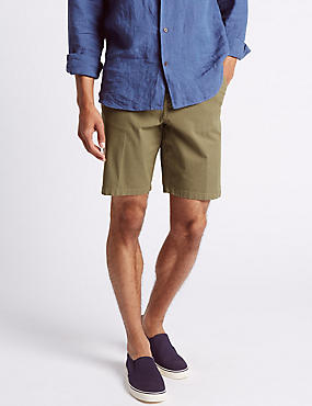 Cotton Rich Shorts, NATURAL, catlanding