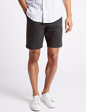 Cotton Rich Shorts, BLACK MIX, catlanding