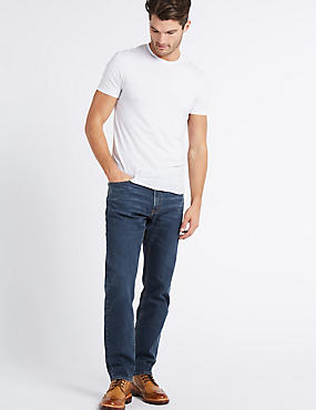 Tapered Fit Stretch Jeans, TINT, catlanding