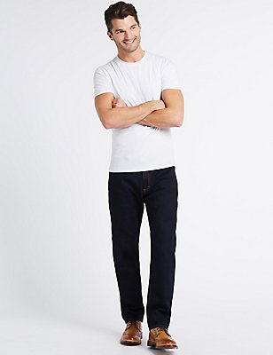 Tapered Sustainable Stretch Jeans, INDIGO, catlanding