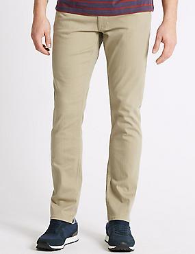 Luxury Performance Slim Fit Jeans, STONE, catlanding