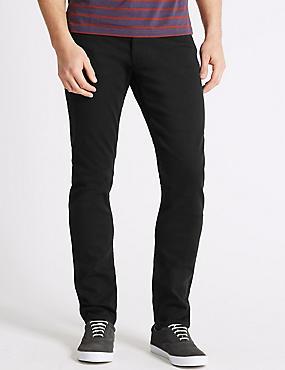Luxury Performance Slim Fit Jeans, BLACK, catlanding