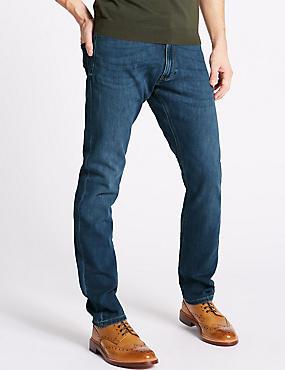 Slim Fit Jeans, MEDIUM BLUE, catlanding