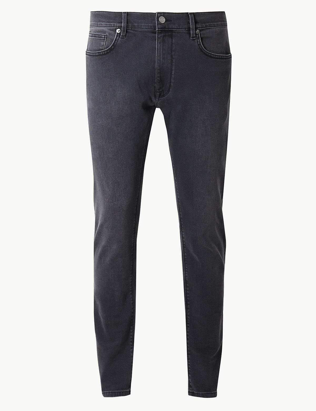 Эластичные джинсы скинни
