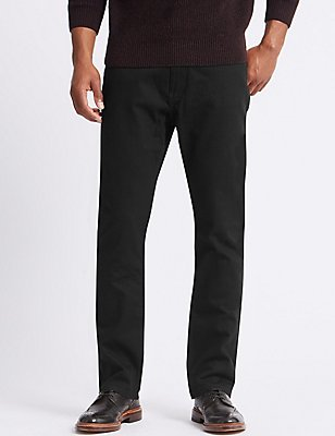 Regular Fit Stretch Jeans, BLACK, catlanding