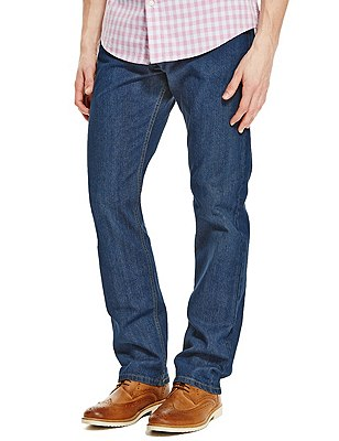 Big & Tall Regular Fit Stretch Jeans, MEDIUM BLUE, catlanding