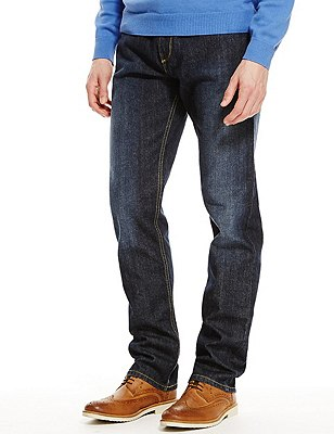 Big & Tall Regular Fit Stretch Jeans, INDIGO, catlanding