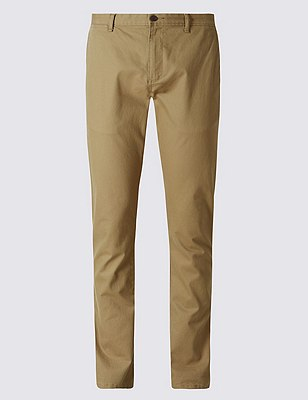 Straight Fit Washed Look Stretch Chinos, TOBACCO, catlanding