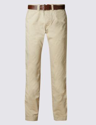 Лёгкие прямые брюки чинос из чистого хлопка