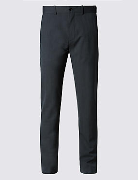 Tailored Fit Textured Chinos with Wool