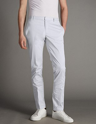 Cotton Rich Slim Fit Chinos, LIGHT GREY, catlanding