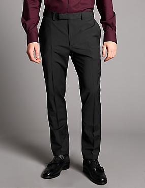 Slim Fit Wool Rich Chinos, BLACK, catlanding