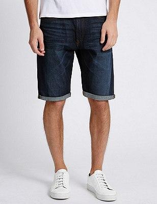 Denim Shorts, INDIGO, catlanding