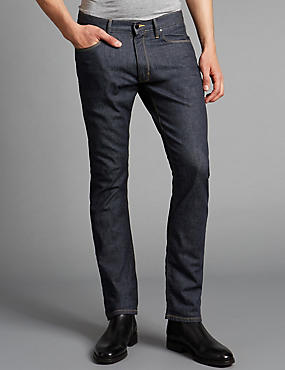 Big & Tall Slim Fit Stretch Jeans, INDIGO, catlanding