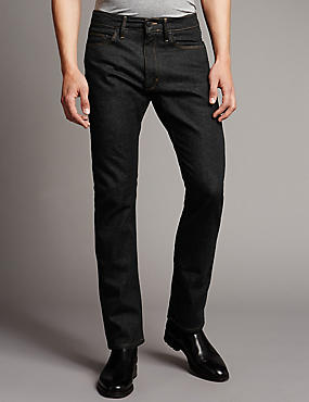 Big & Tall Slim Fit Stretch Jeans, BLACK, catlanding