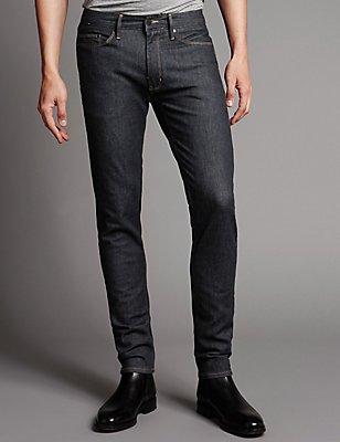 Skinny Fit Stretch Jeans, INDIGO, catlanding