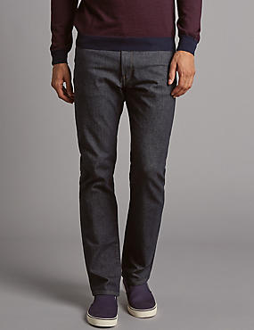 Big & Tall Straight Fit Jeans, INDIGO, catlanding