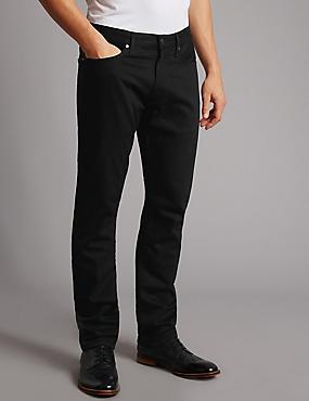 Jeans slim fit elásticos, NEGRO, catlanding