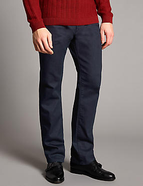 Straight Fit Stretch Jeans, INDIGO, catlanding