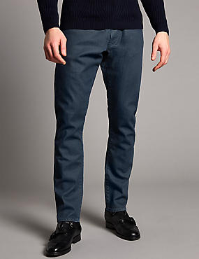 Slim Fit Stretch Jeans, BLUE, catlanding