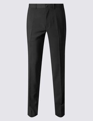 Офисные брюки слим без защипов