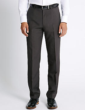 Flat Front trousers, CHARCOAL, catlanding