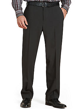 Big & Tall Flat Front Trousers, CHARCOAL, catlanding