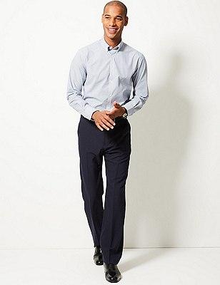 Flat Front Trousers, NAVY, catlanding