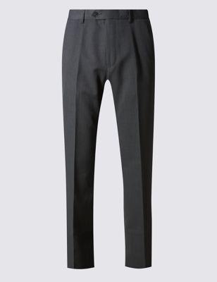 Классические брюки без защипов с технологиями Crease Resistant и Buttonsafe™ M&S Collection T173232M
